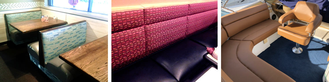 Fort Myers Florida Restaurant Seating Booth Vinyl Upholstery Repair