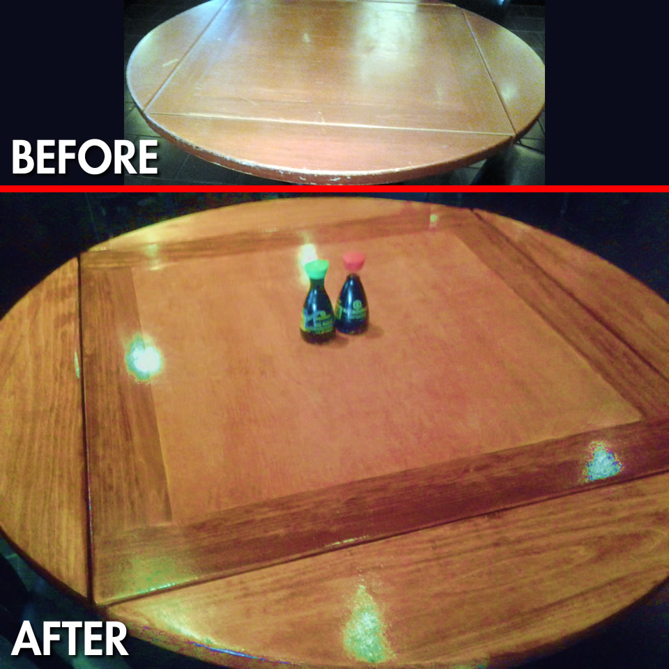Table Wood Refinishing Repair Fort Myers Florida